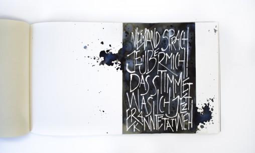 Kalligraphieseiten vorlage